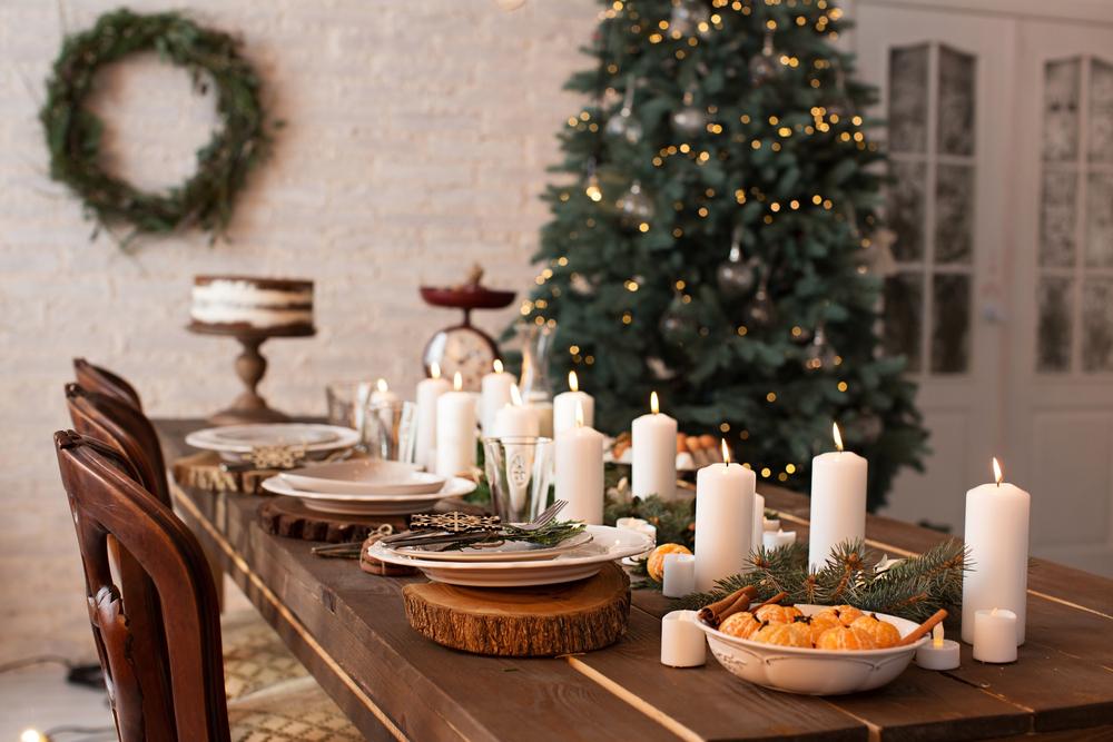 decoración rustica de navidad