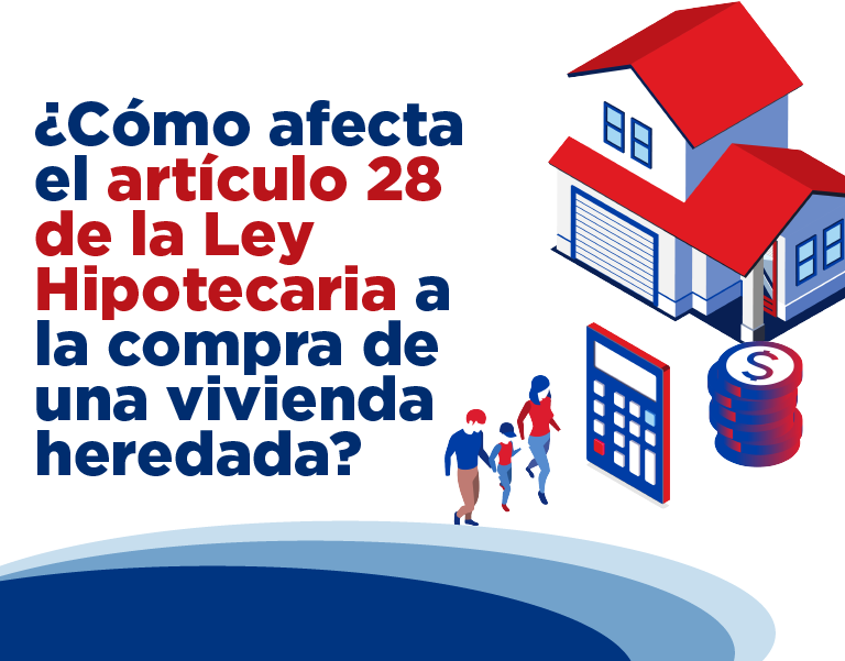 ¿Cómo afecta el artículo 28 de la Ley Hipotecaria a la compra de una vivienda heredada?